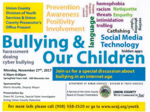 Bullying & Our Children Presentation @ Springfield Town Hall | Springfield Township | New Jersey | United States